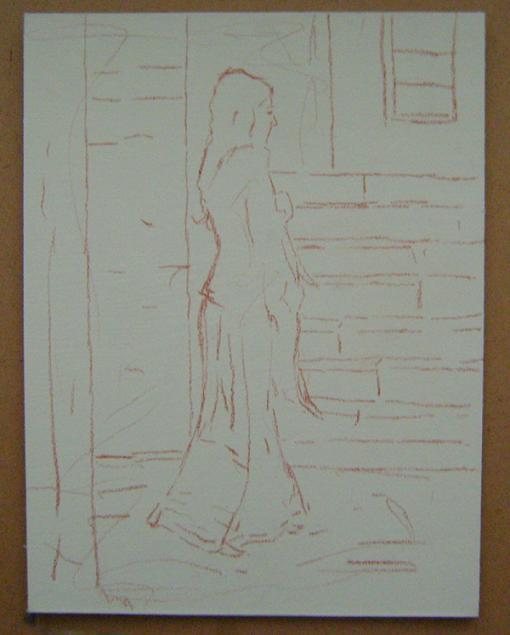 Fatih Karakaş: Aşamalı yağlı boya resim- 1. Aşama-2009