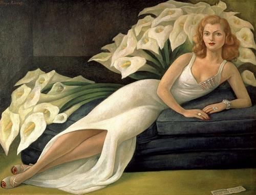 Rivera natasha gelman ın portresi 1943 tuval üzerine yağlı boya